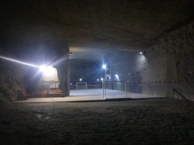 Yes! It's an underground football pitch.