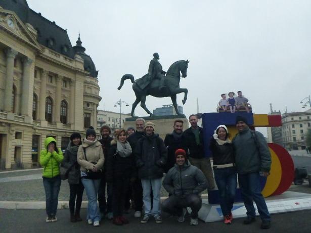 Making new friends in Bucharest