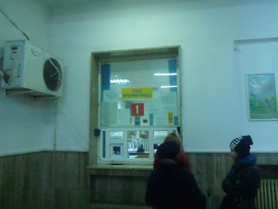 Casa 1 - the international ticket office in Bucharest Gara de Nord.