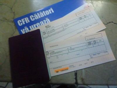 My night train ticket from Romania to Moldova.