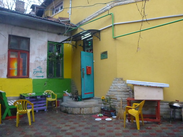 Staying in the Tapok Hostel in Chisinau, Moldova.
