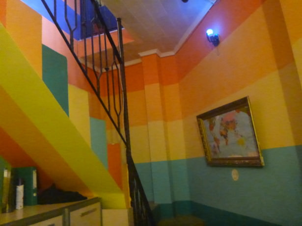 Colourful appeal of Tapok Hostel.