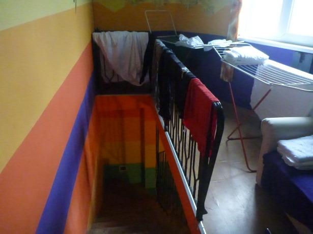 Funky decor - arty hostel.