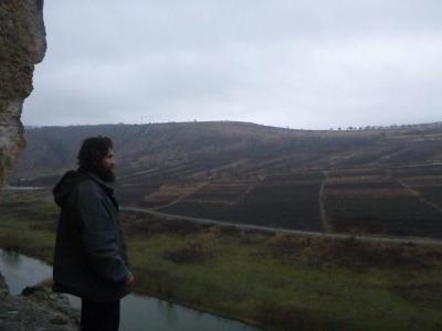 Vasil admiring the views.