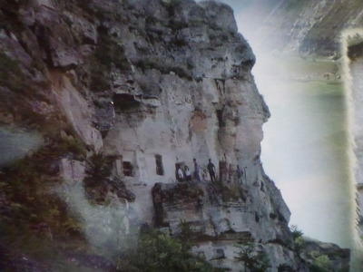 The nose and face shape of the monastery.