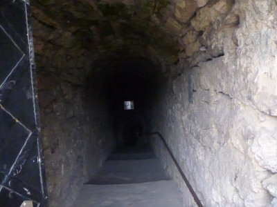 The steps down to the cave monastery.
