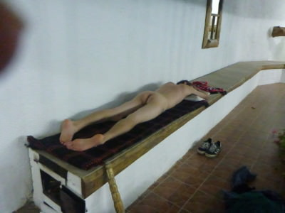 That's better - a proper naked spa all alone in Butuceni, Moldova.