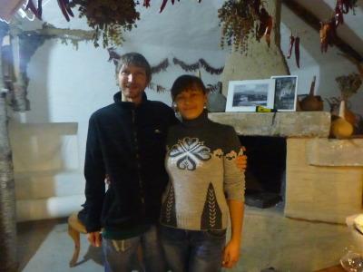 With Olesea.