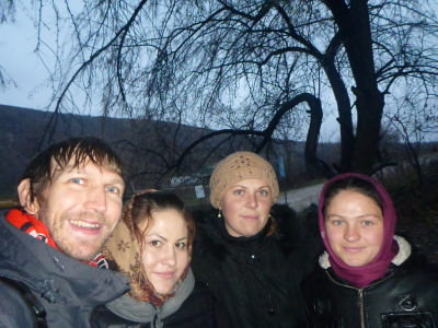 With the girls in Butuceni before getting the bus.