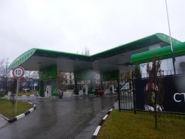 Petrol Station in Tiraspol, Transnistria.