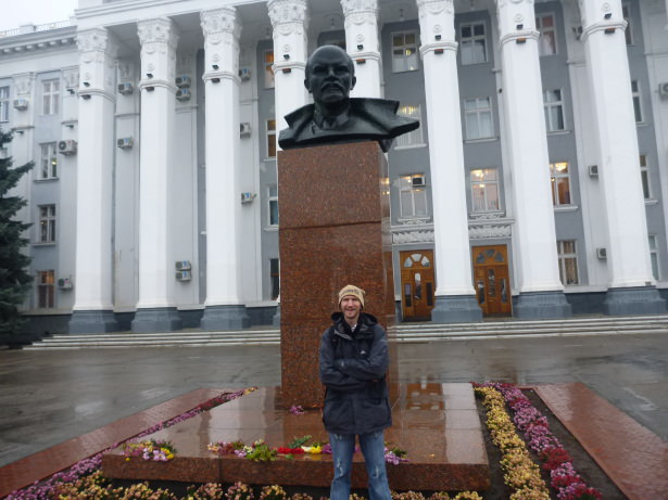 Palace of the Soviets with another Lenin head.
