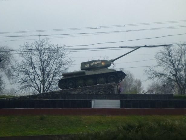 Tank Memorial in Tiraspol.