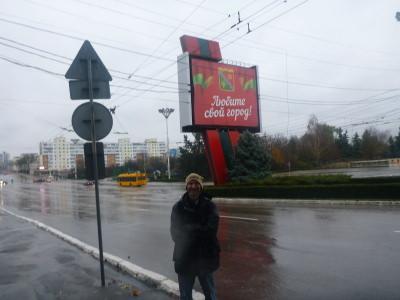 Exploring Tiraspol, Transnistria.