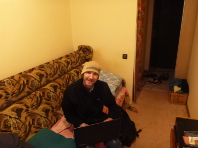 Using internet in my homestay.