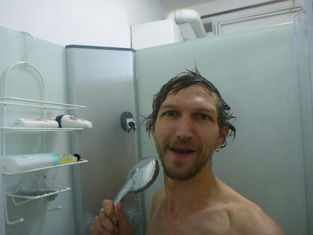 Shower selfie loving it.