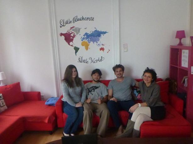 Cool staff at Little Bucharest Hostel.