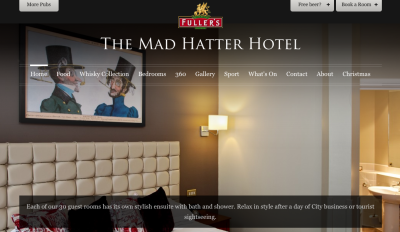 Free pint at the Mad Hatter Hotel.