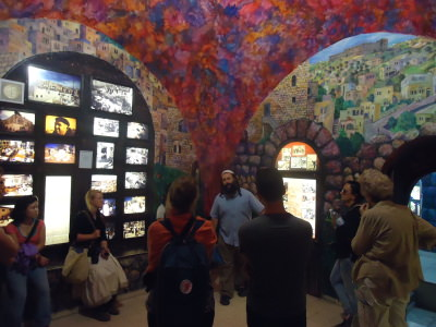 Touring the Jewish museum in Hebron - it's completely biased.