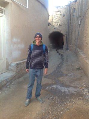 Walking through Yaseh Chah.