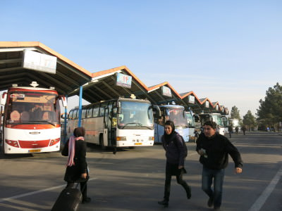 Bus station in Tabriz, Iran.