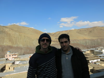 With Rasool in Iranian countryside.