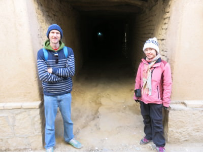 Walking through the walls and passages in Yaseh Chah.