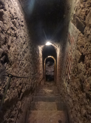 The spooky staircase where I freaked out a Spanish girl in Draculas Castle Bran