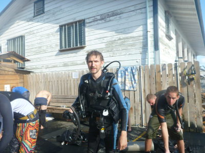 Doing my PADI course with Utila Dive Centre in Honduras.