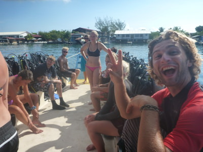 Fun dive day in Utila!