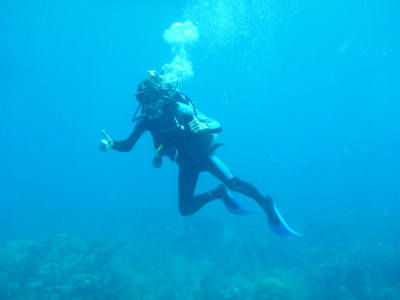 Loving the fun dives in Utila, Honduras.