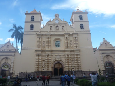 Main Cathedral in Plaza Morazan.