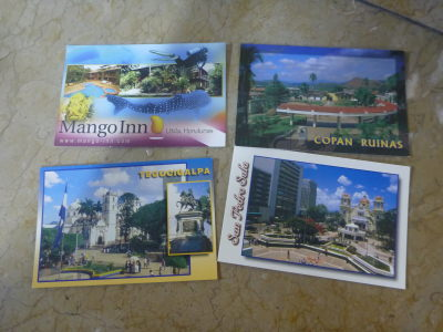 My brother's postcards from Honduras including Tegucigalpa...