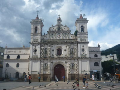 The beautiful Iglesia Los Dolores.