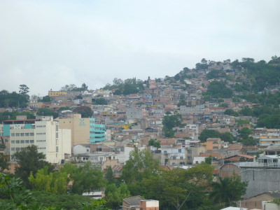 View of Tegucigalpa from the hotel.