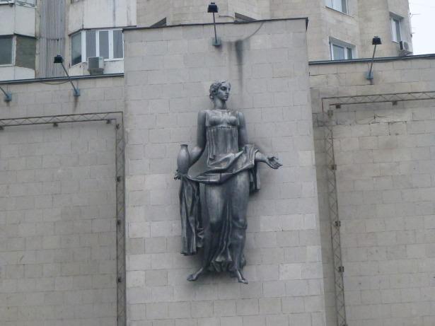 Street statues in Chisinau, Moldova.