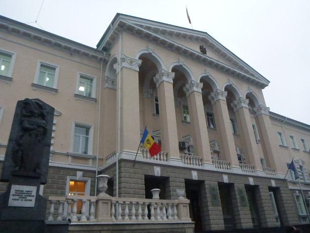 Stunning architecture on Chisinau's main boulevard.