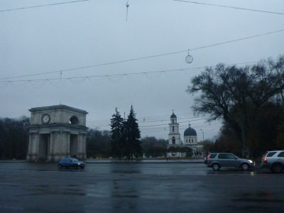 The triumphal arch in Chisinau.