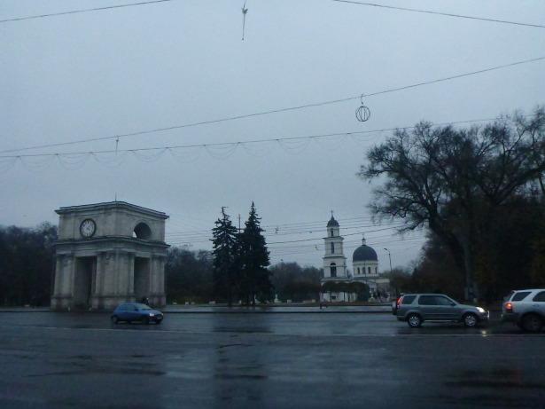 The triumphal arch in Chisinau.
