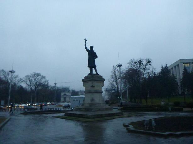 Stefan cel Mare statue in Chisinau, Moldova.