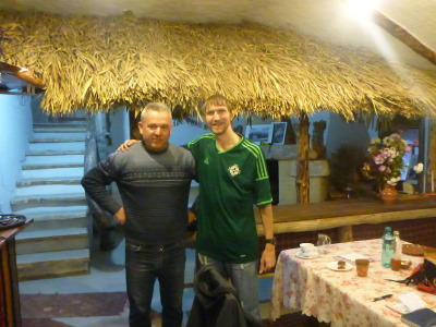 With Anatolie, owner of Butuceni Eco Resort.