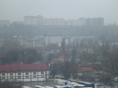 View over Chisinau from Atrium Shopping Mall.