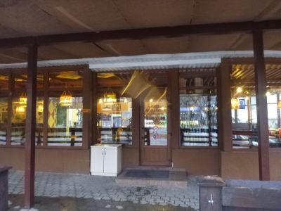 The local cafe/restaurant in Tiraspol, Transnistria.