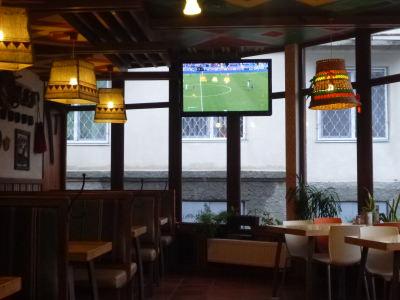 Football on the TV.