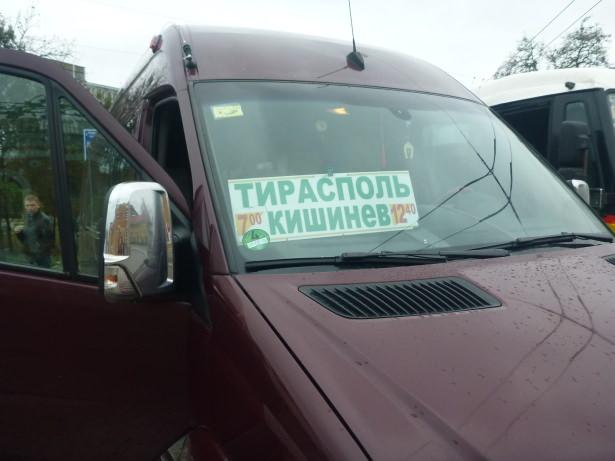 The bus from Tiraspol to Chisinau.