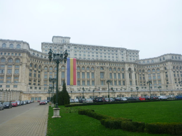 Parliament Palace in Bucharest, Romania.