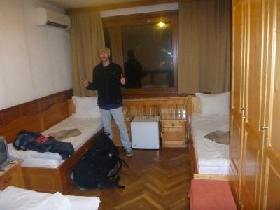 Loving my hot, cosy room at Family Hotel Comfort, Veliko Tarnovo.