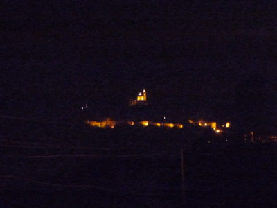 My night time view over to Tsarevets Fortress.