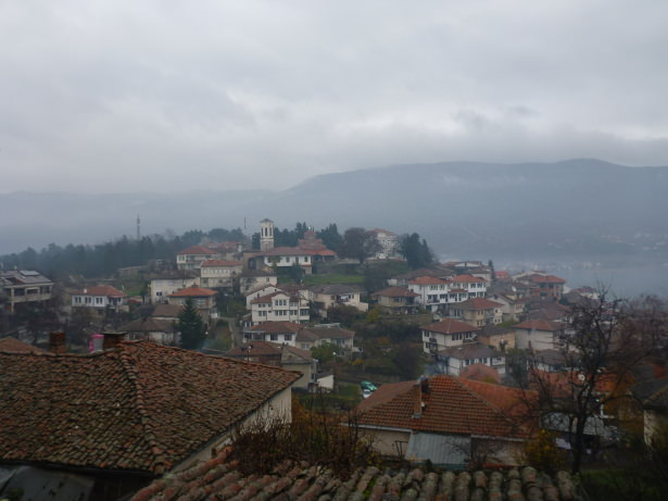 The town of Ohrid, Macedonia.