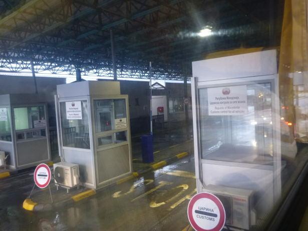 Leaving Macedonia at Blace.