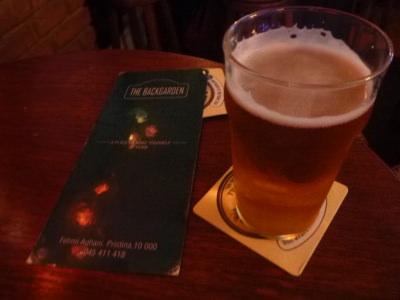 Pint of Peja for 2 Euros